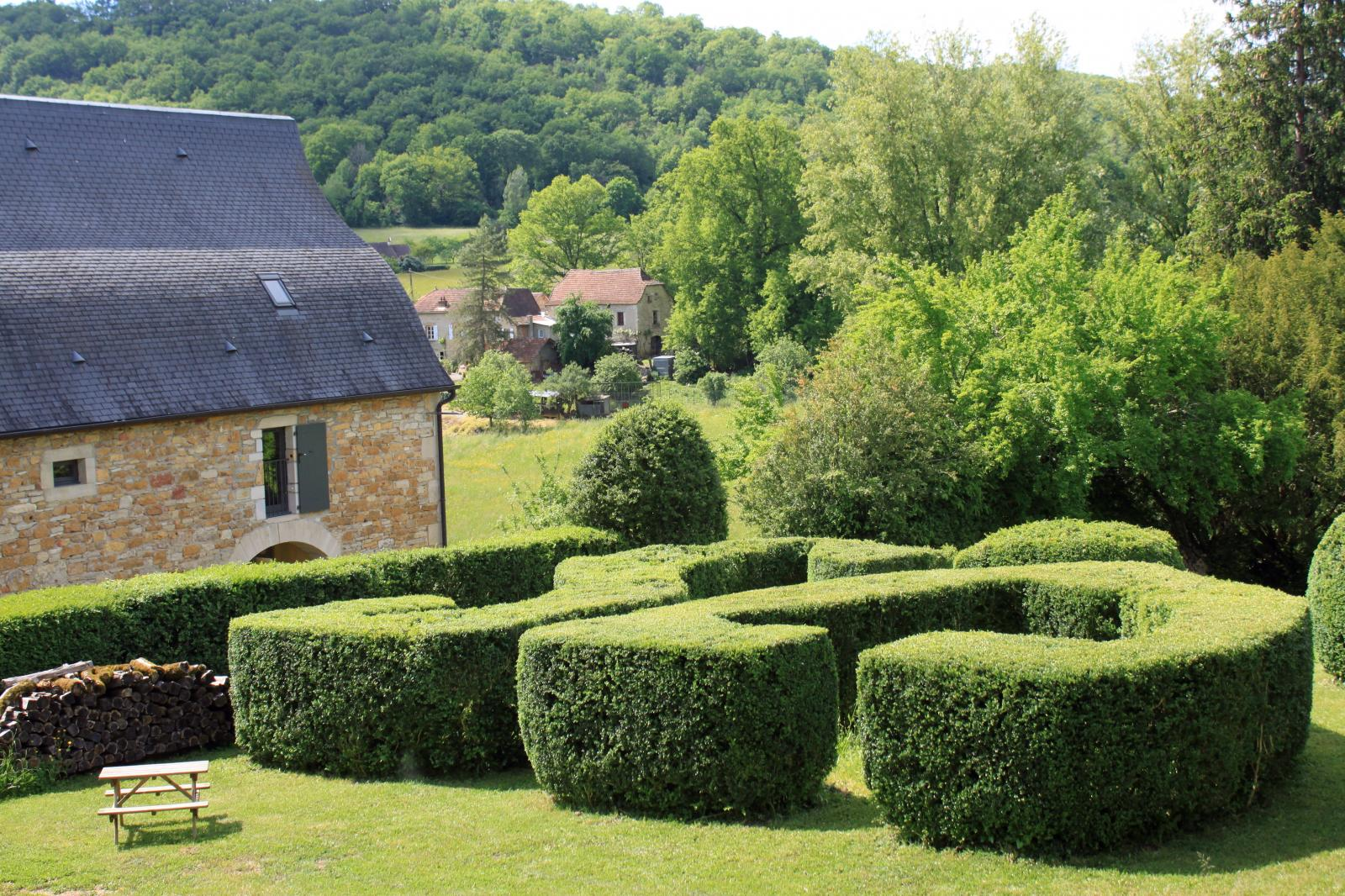 Les jardins de buis du Broual