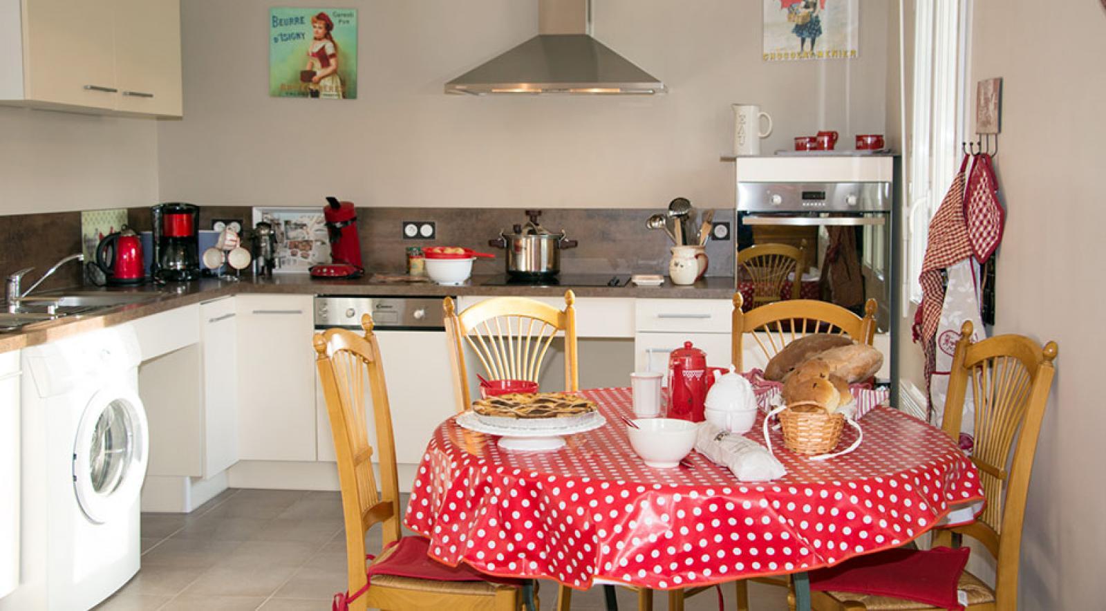 La cuisine du Gite Louis La Brocante