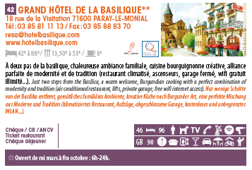 hotel basilique Paray le Monial