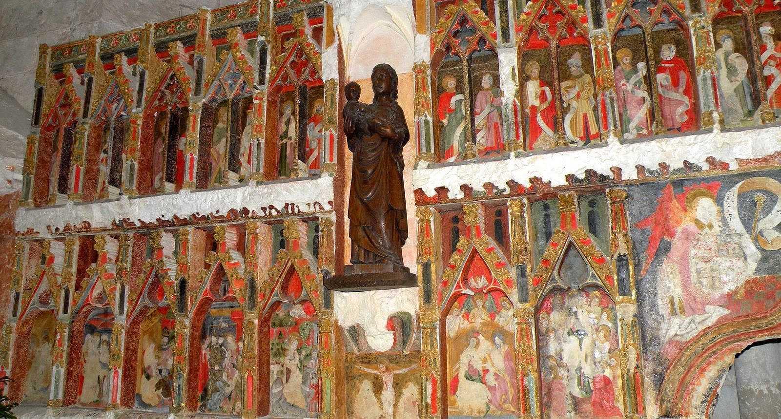 Retable gothique de l'église Notre-Dame à Audignon
