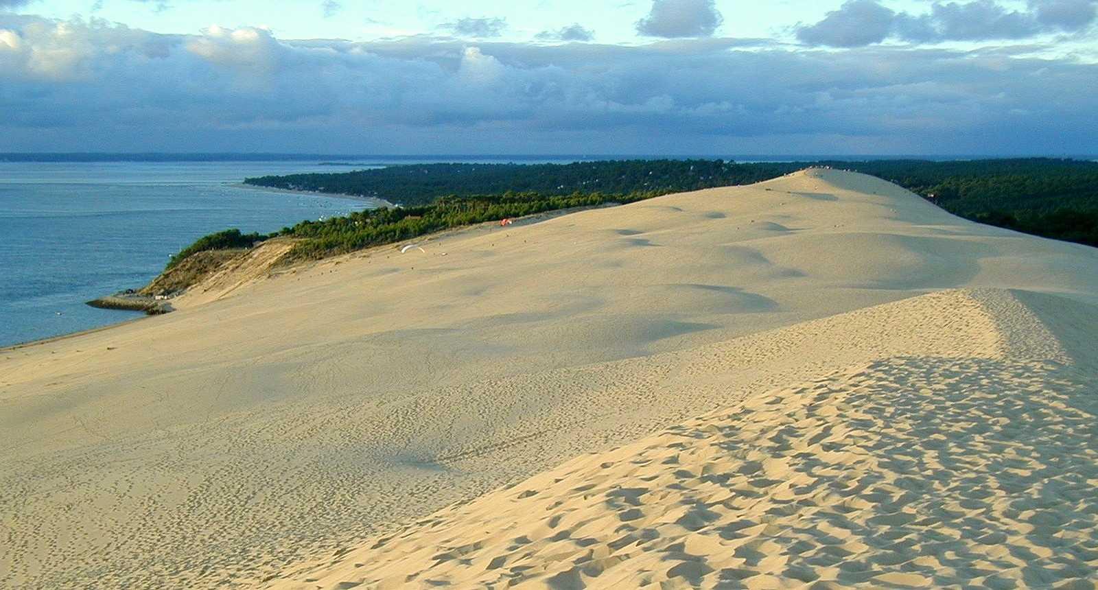 Vue du sommet de la Dune du Pilat