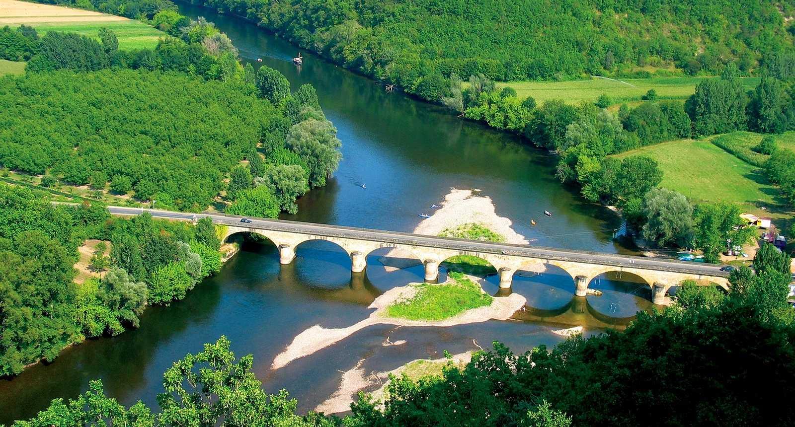 Le Pont de Castelnaud vu du château
