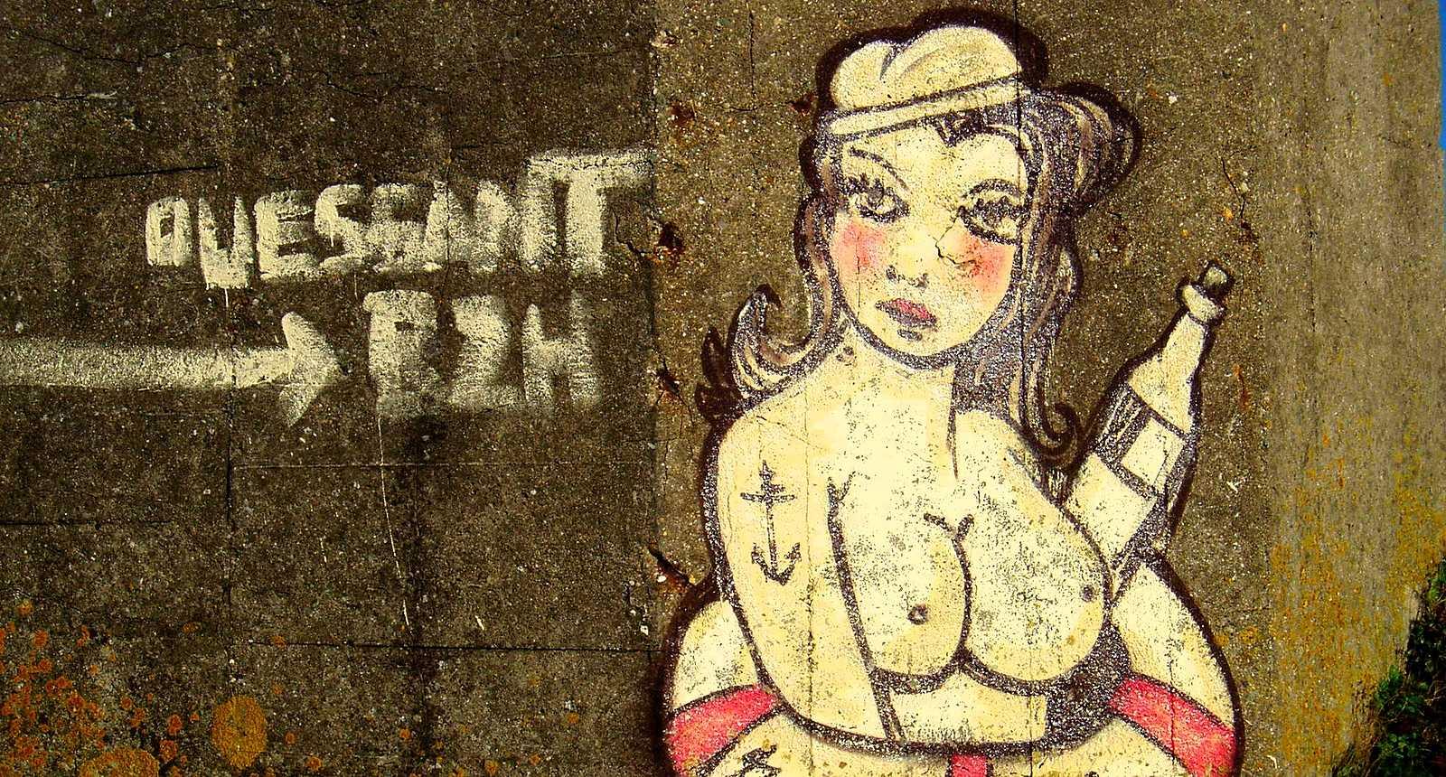 Art de rue sur l'Île d'Ouessant