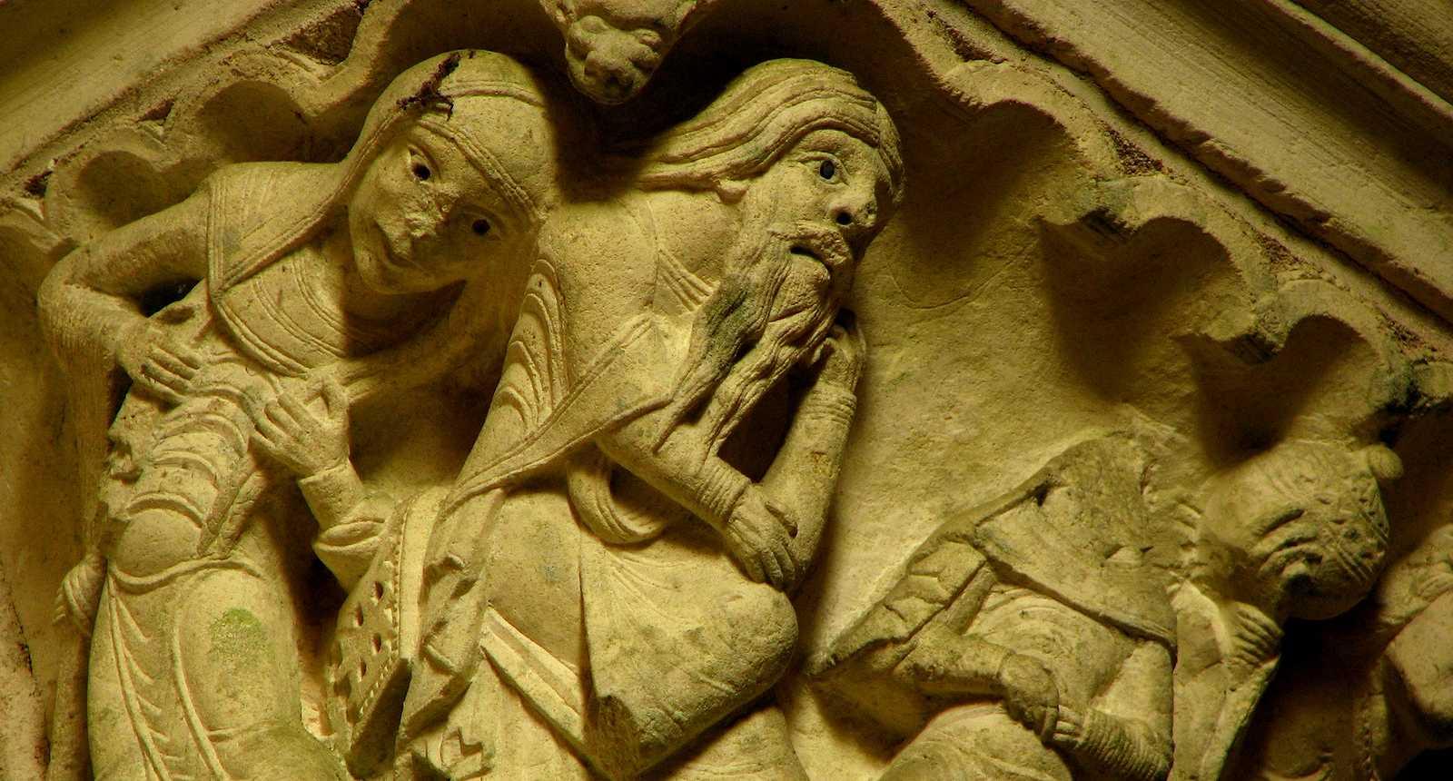 Chapiteau de l'église Notre-Dame de Gargilesse