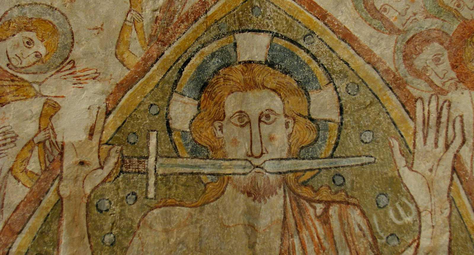 Fresque de l'église Notre-Dame de Gargilesse