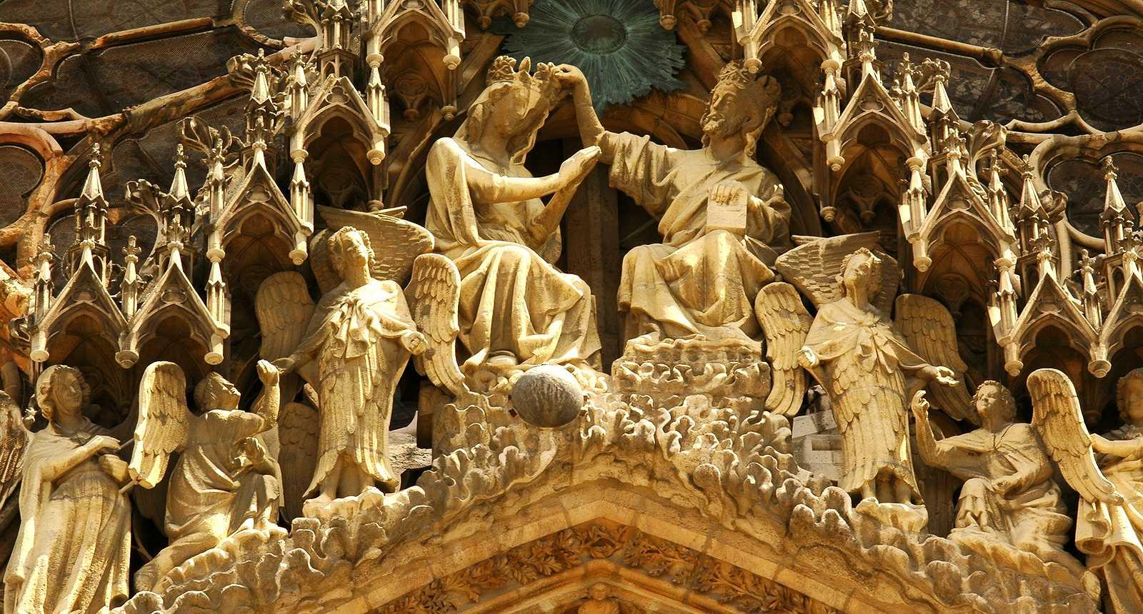 Fronton de la Cathédrale Notre-Dame de Reims