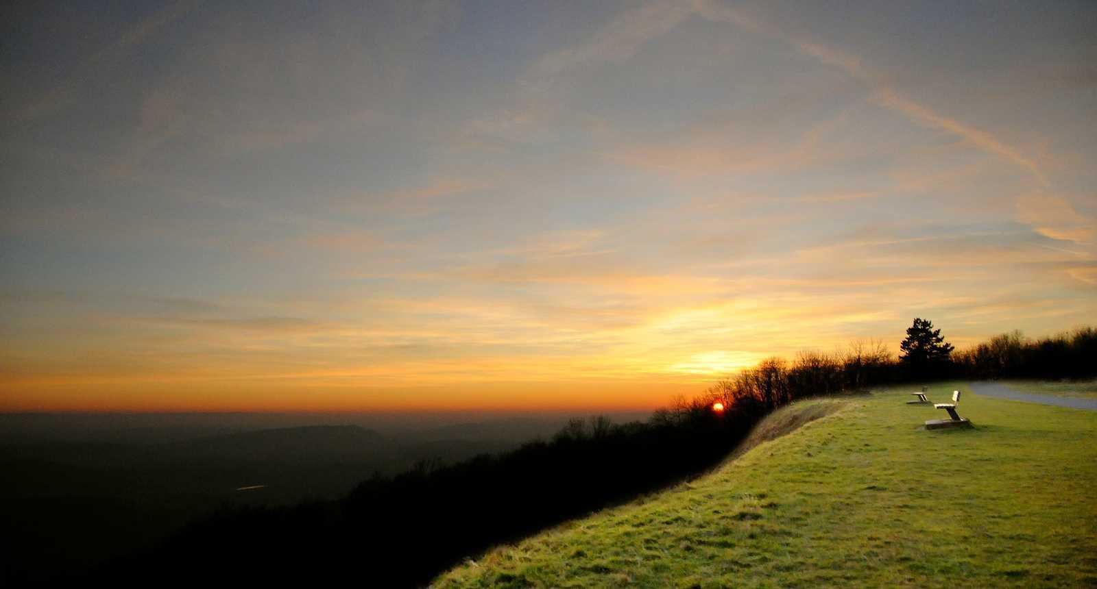 Coucher de Soleil au sommet du Salbert