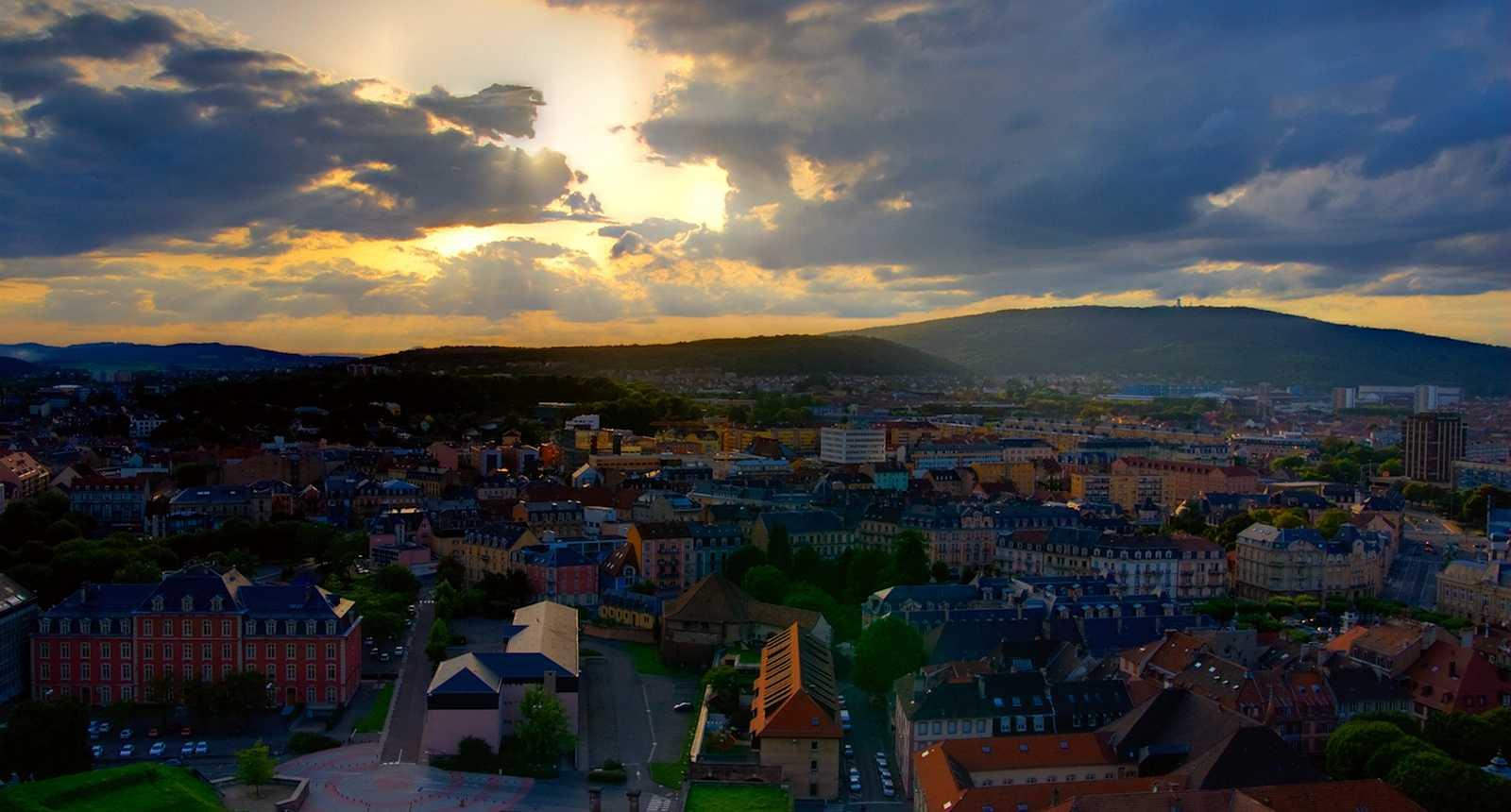 Coucher de soleil sur Belfort