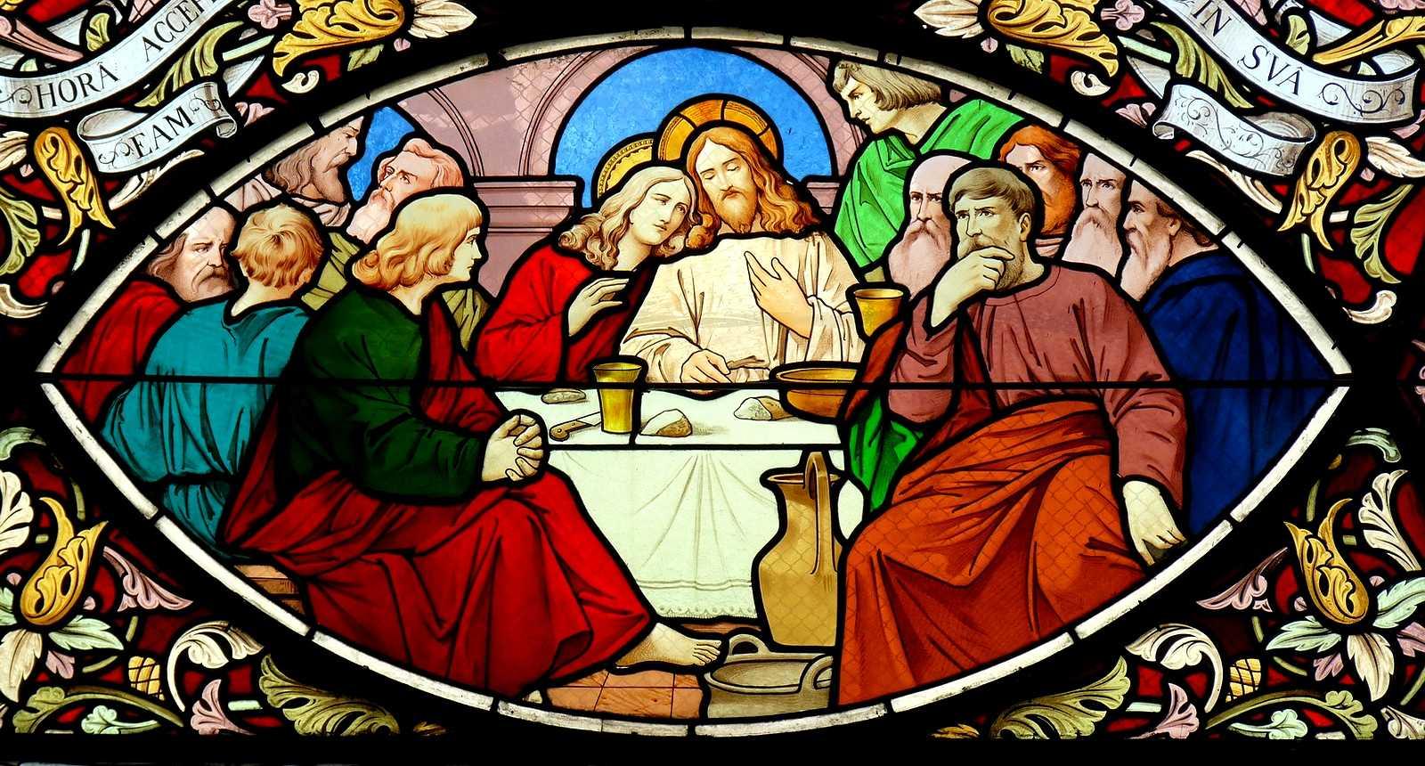 Détail d'un vitrail de l'église Saint-Georges de Vesoul