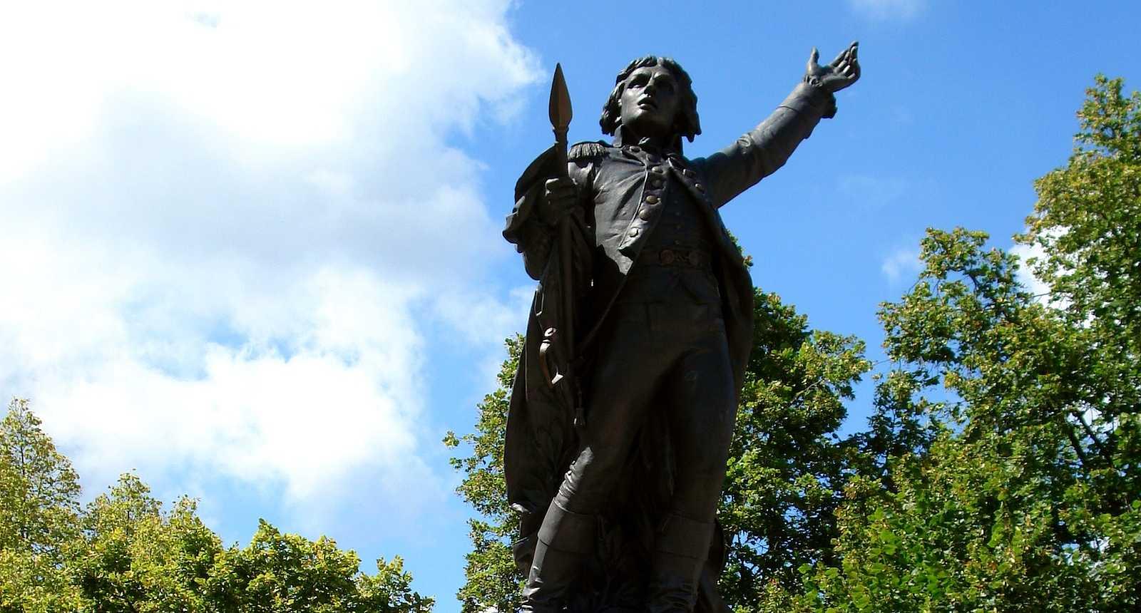 La statue de Rouget de Lisle à Lons-le-Saunier
