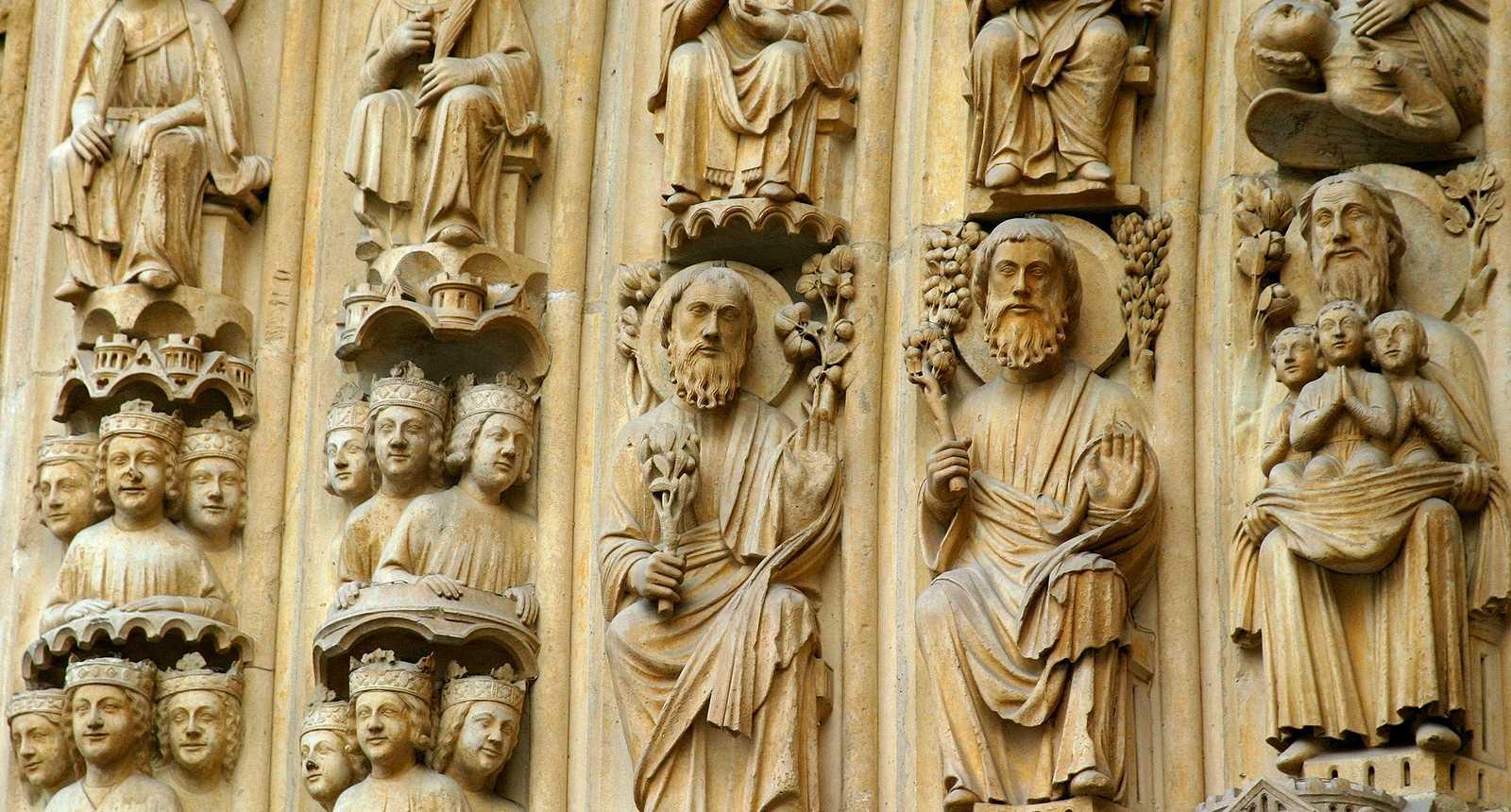 Détail des sculptures de Notre-Dame de Paris