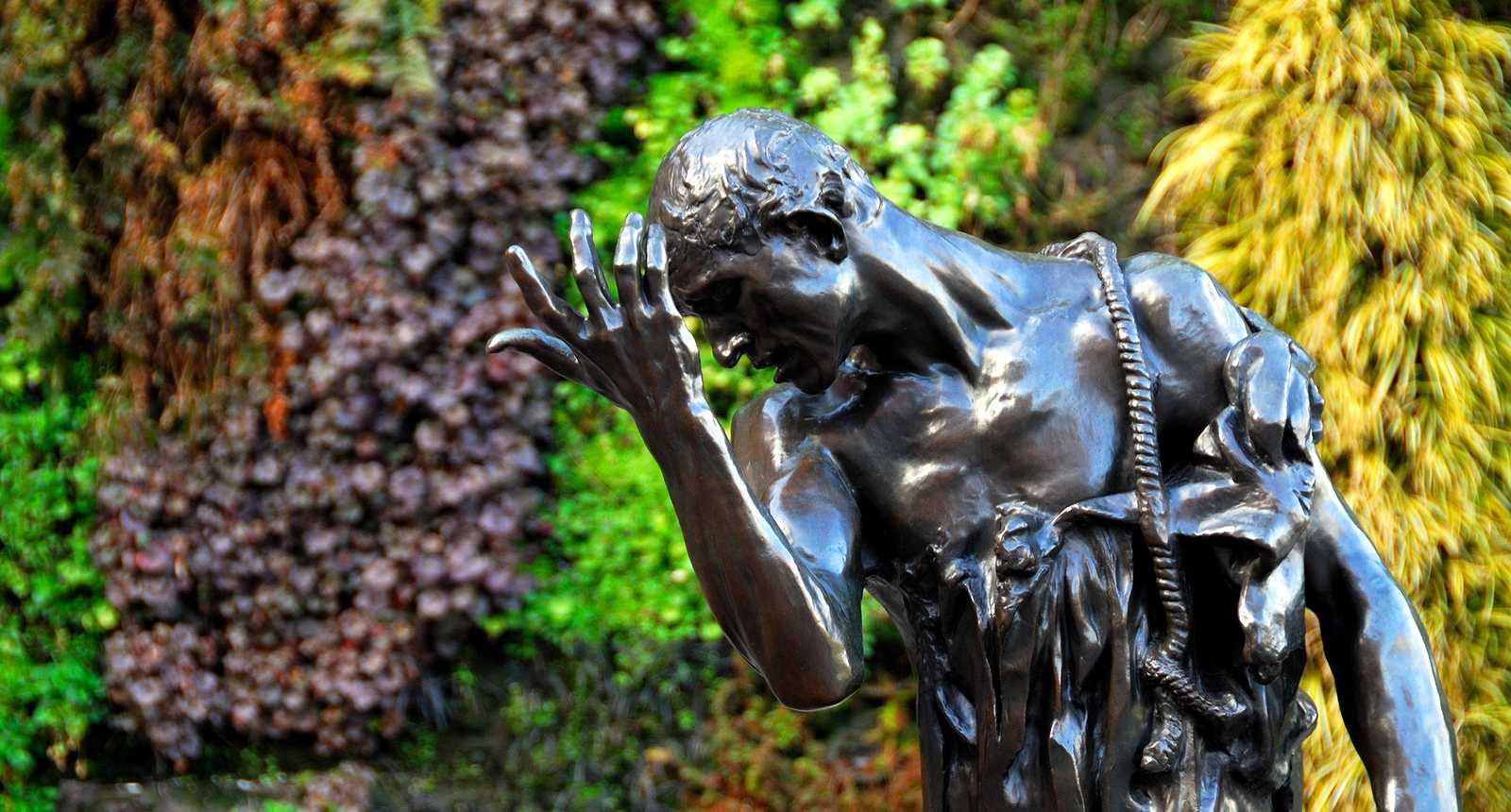 Détail du statuaire des Bourgeois de Calais au Musée Rodin de Paris