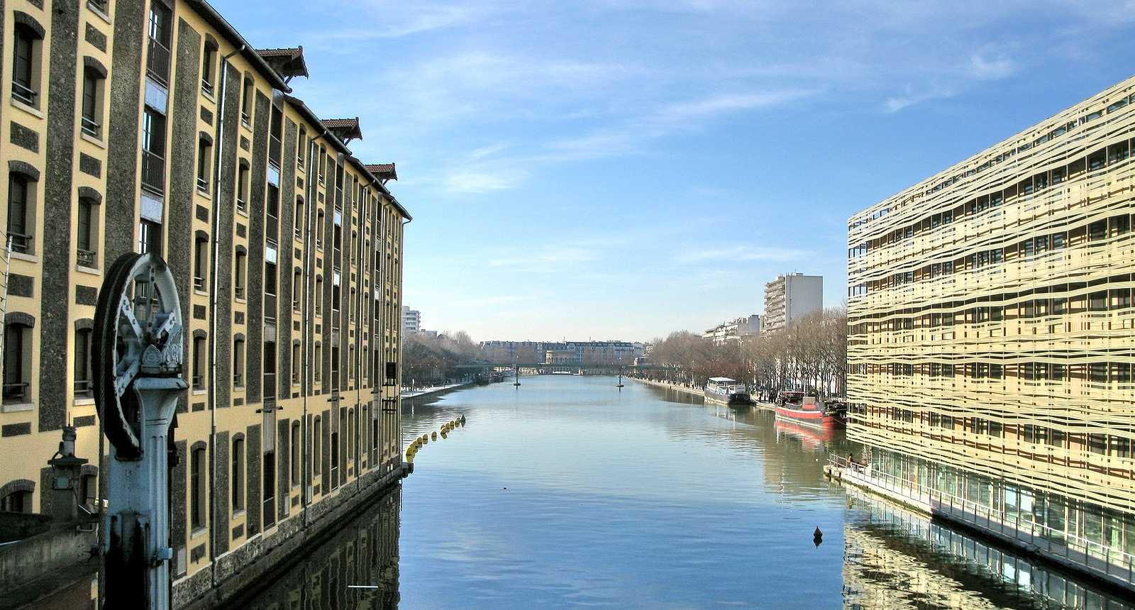 Photo immeubles anciens et modernes sur le canal paris - Taxe sur les bureaux en ile de france ...