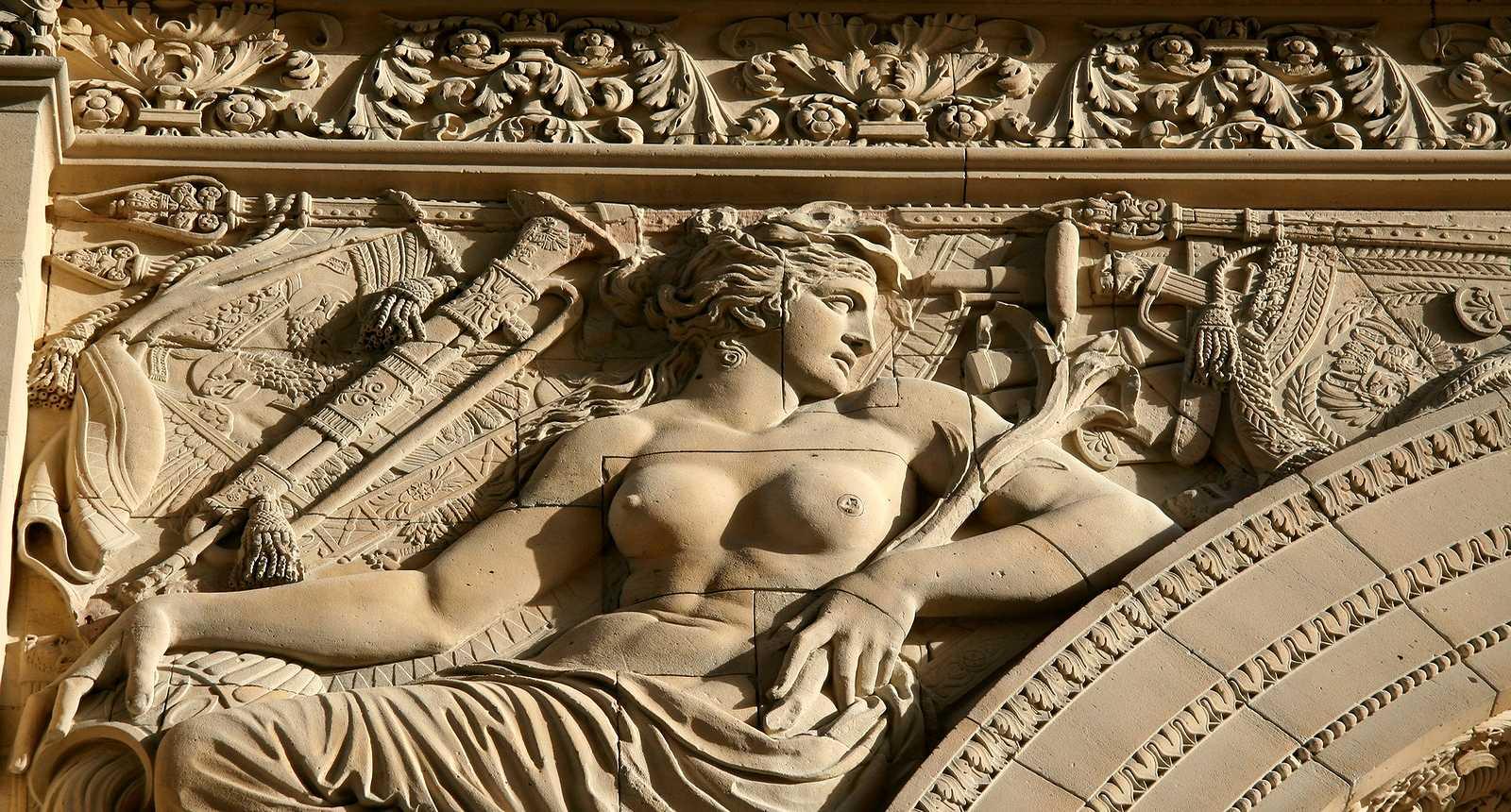 Sculpture de l'Arc de Triomphe du Carrousel du Louvre