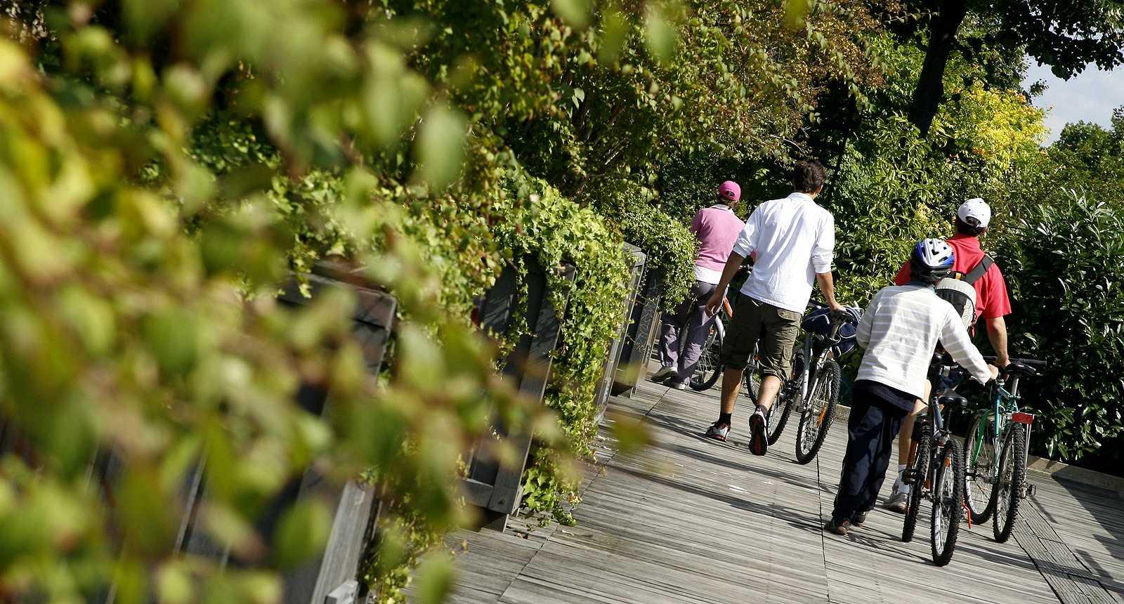 Balade à vélo sur la Promenade Plantée