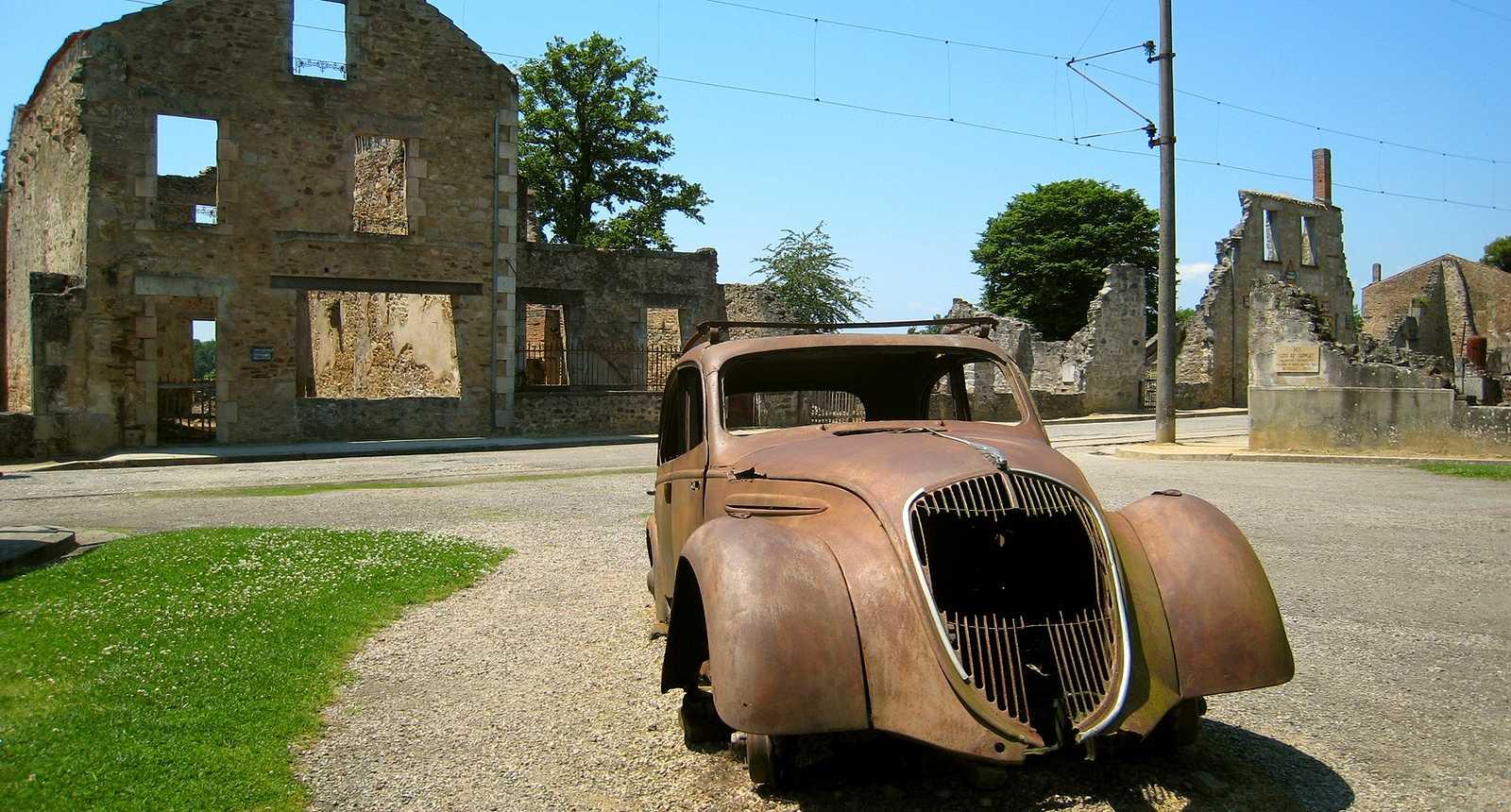 Les ruines d'Oradour-sur-Glane
