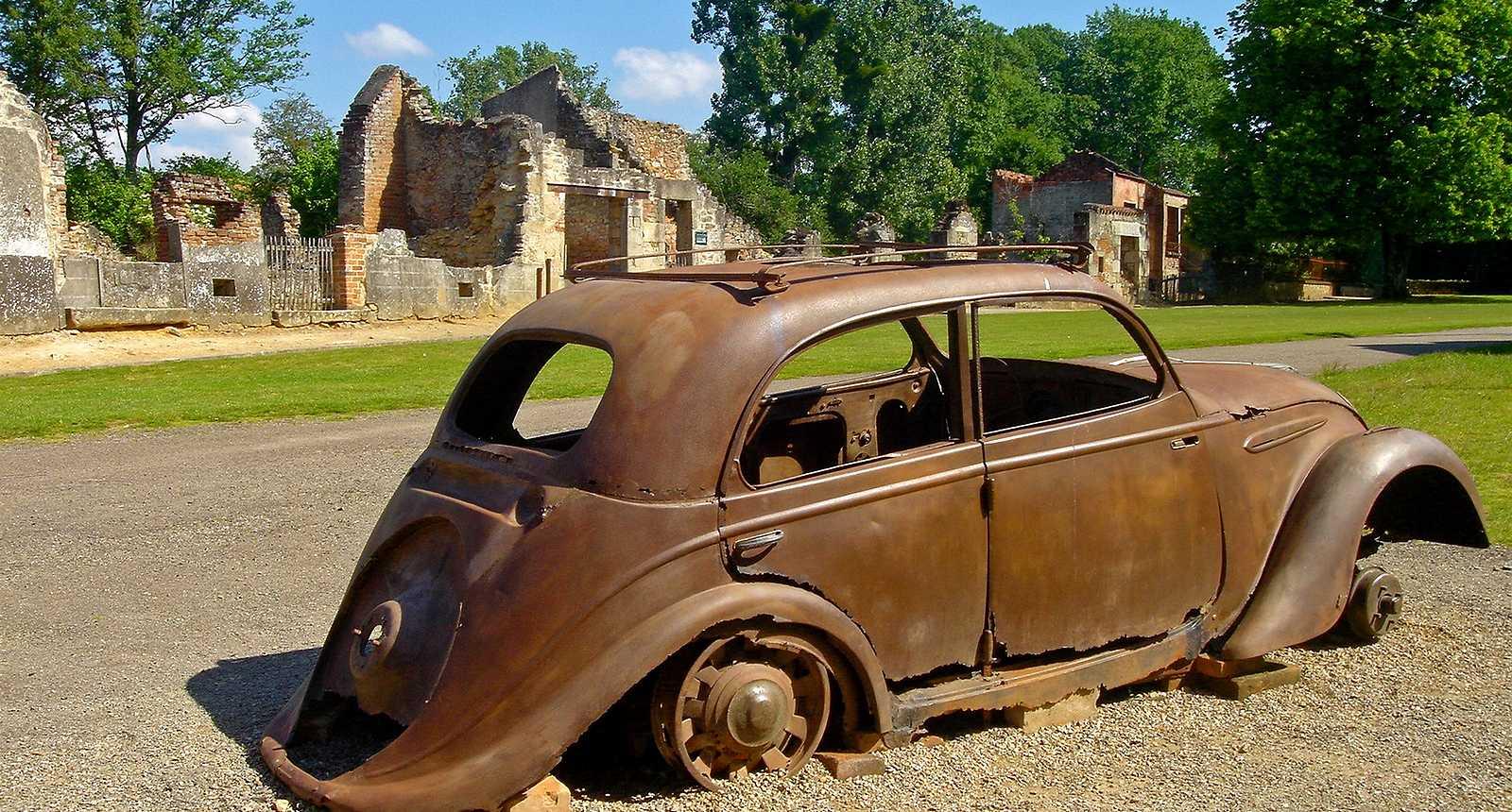 Les ruines du village martyr d'Oradour-sur-Glane