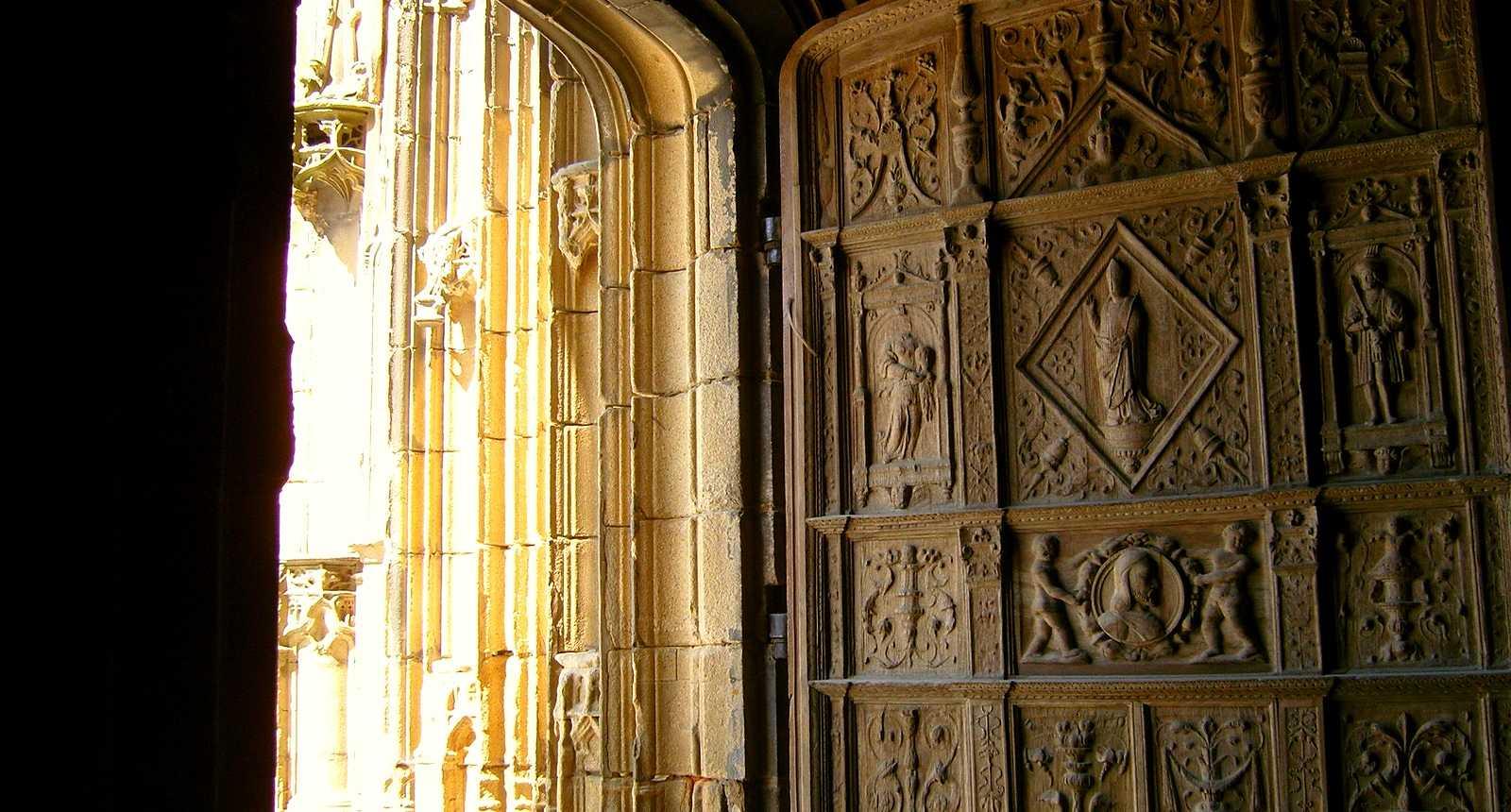 Détail de la porte de la Cathédrale Saint-Etienne de Limoges