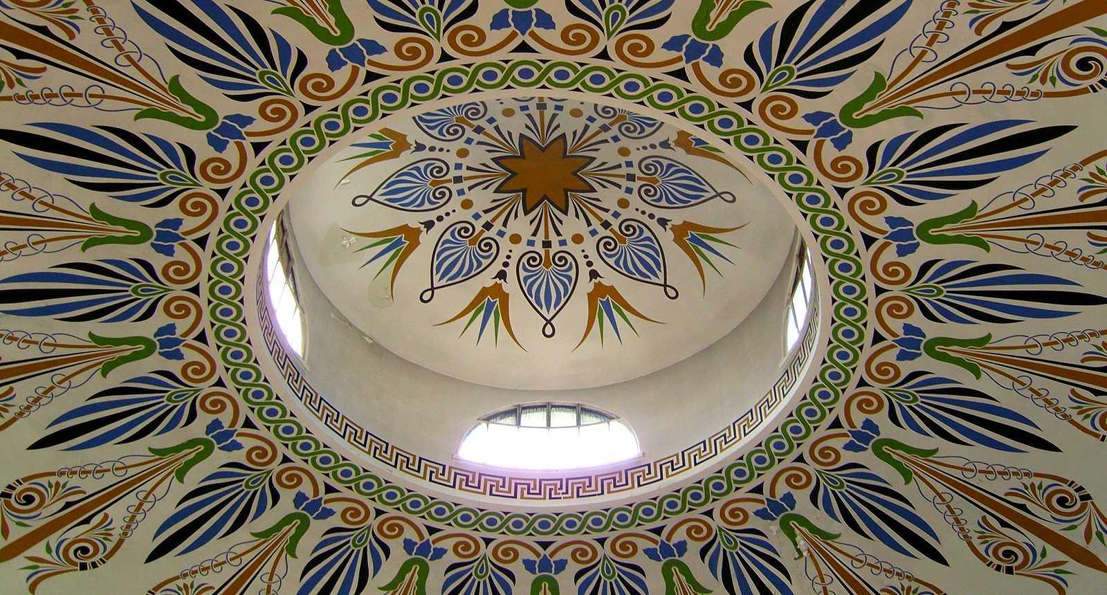 Détail du plafond du Pavillon du Verdurier à Limoges