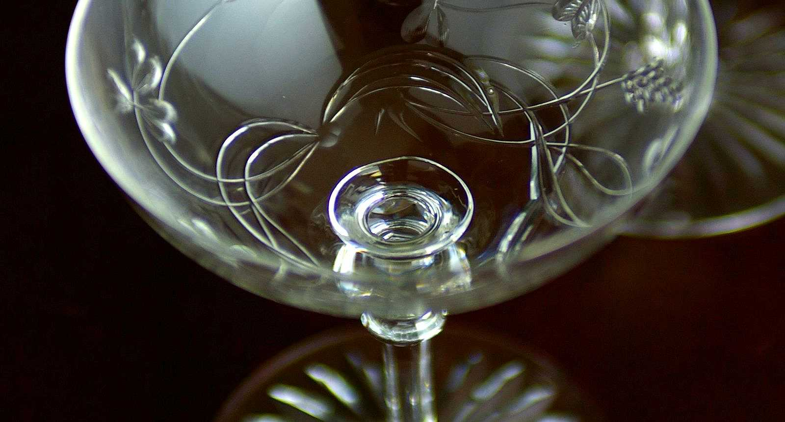 Coupe de Champagne en Cristal de Baccarat des années 1890