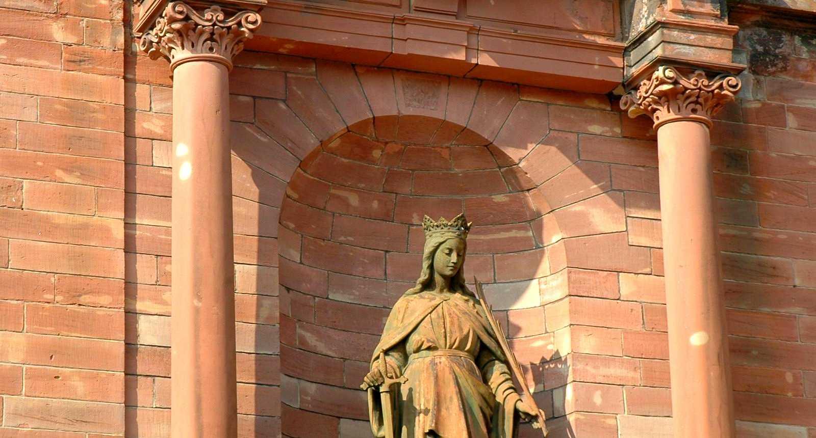 Statue de l'église Sainte-Catherine de Bitche