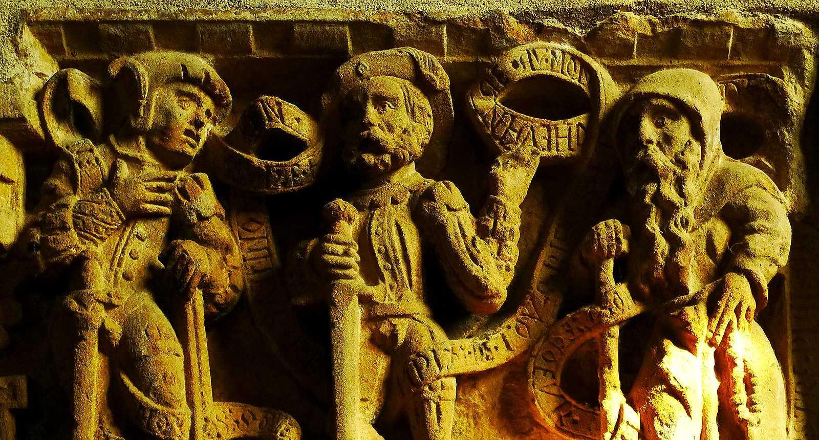 Détail d'une frise de l'église Saint-Gengoult de Briey