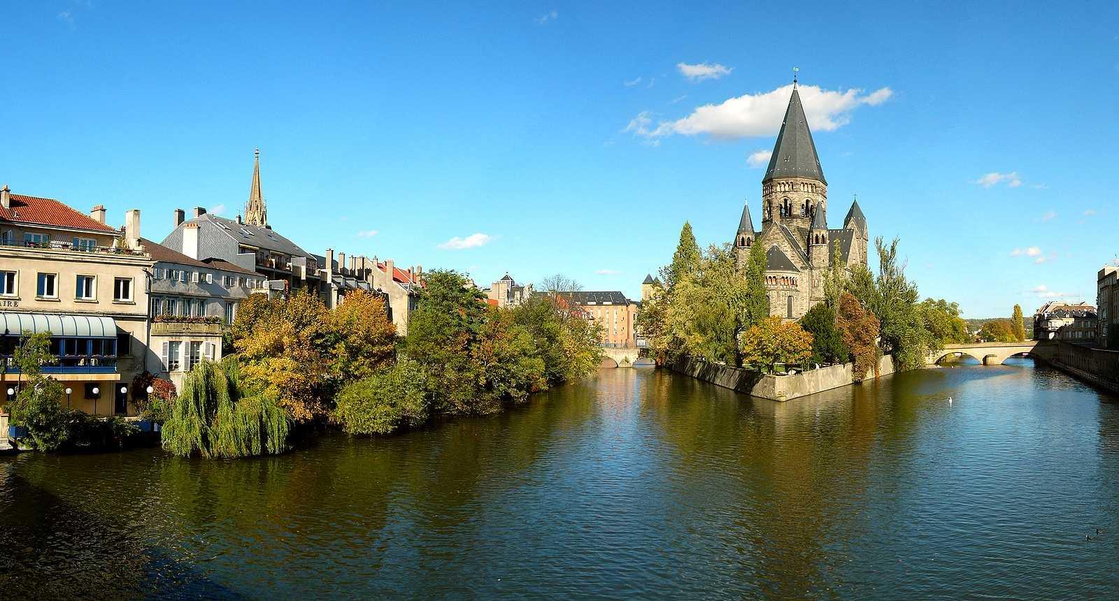 L'Île du Petit-Saulcy et le Temple-Neuf à Metz