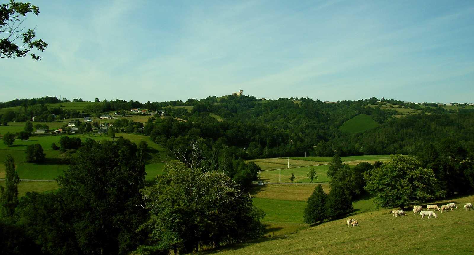 Vue sur le Château de Mauvezin