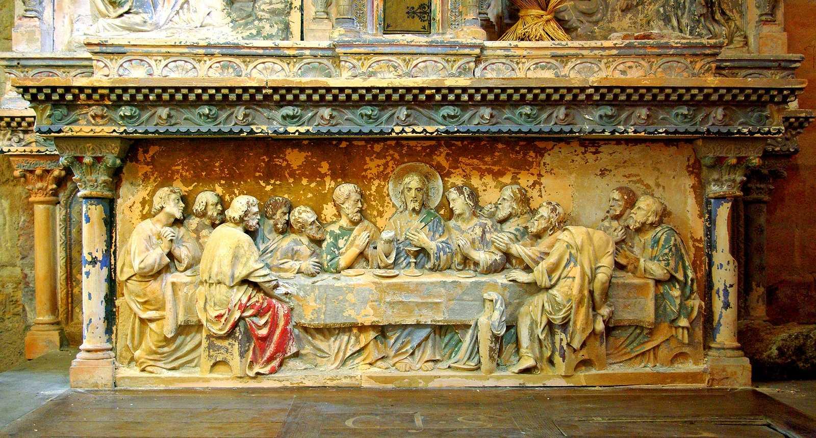 La Cène sculptée de l'église Saint-Volusien de Foix