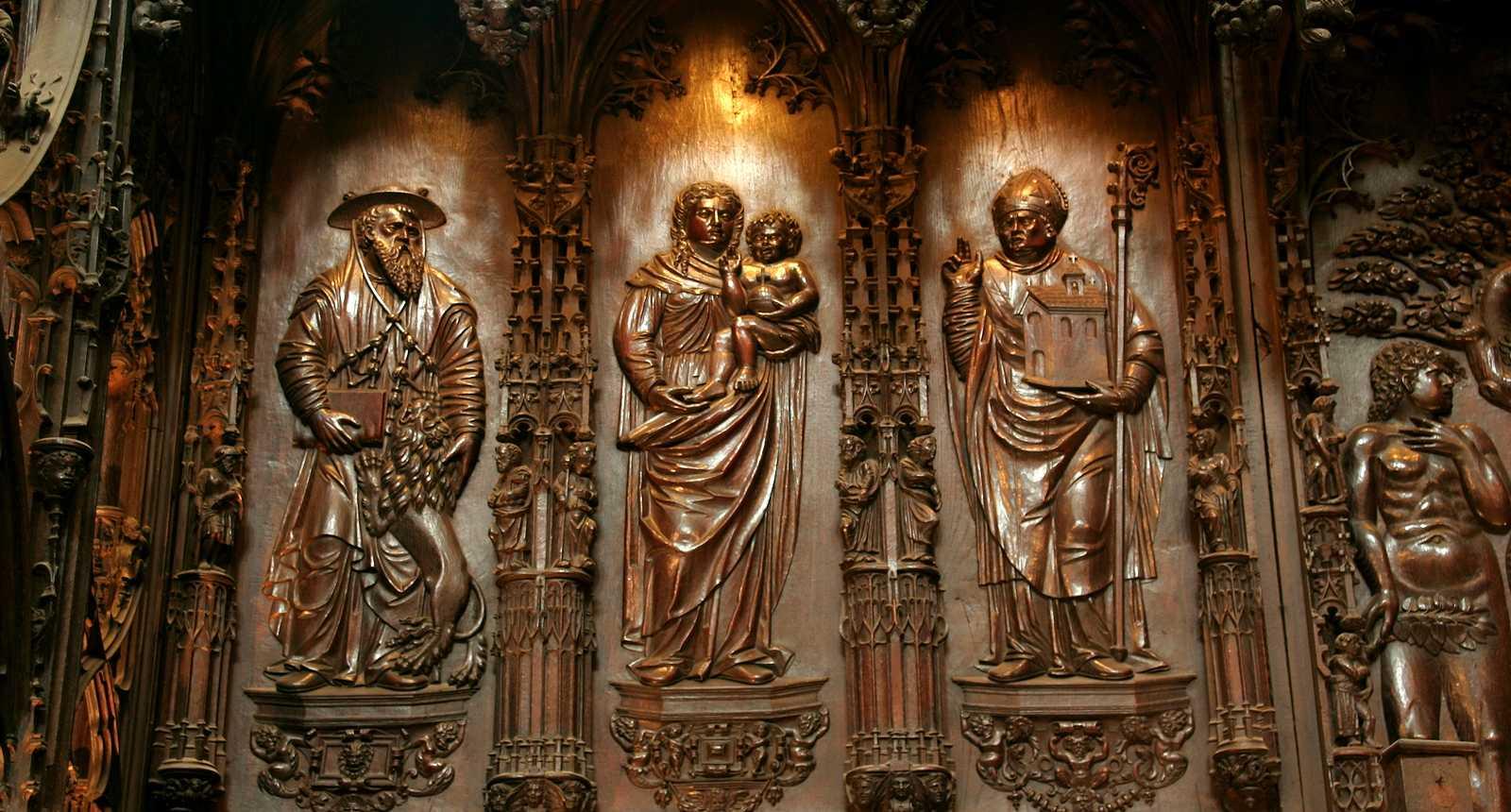 Les stalles en bois de la Cathédrale Sainte-Marie d'Auch