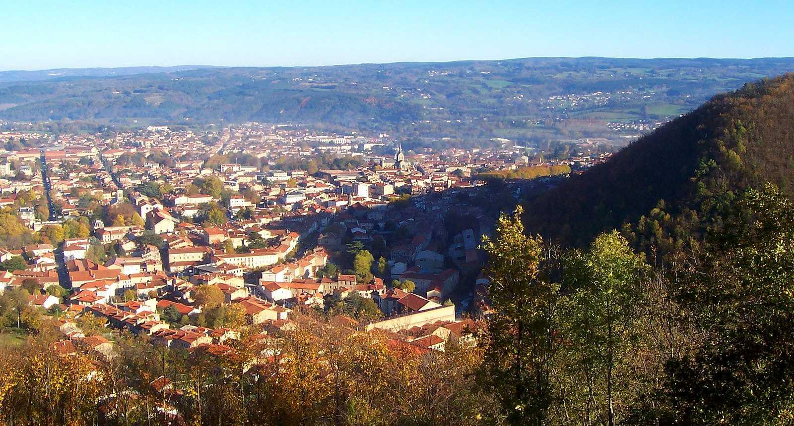Vue sur la ville de Mazamet