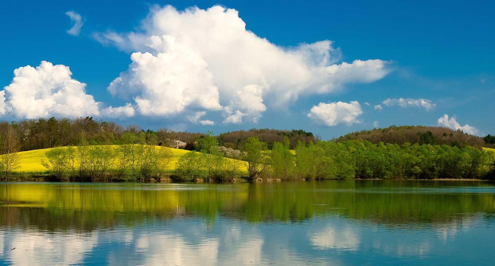 Le Lac de Montbel, près de Mirepoix