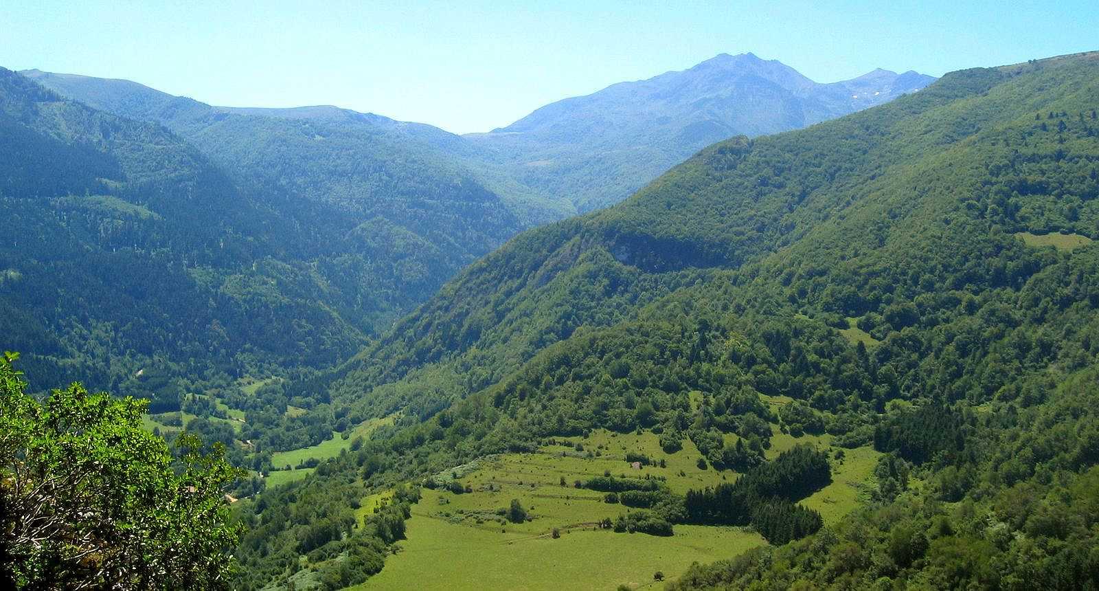 Paysage autour de Montségur