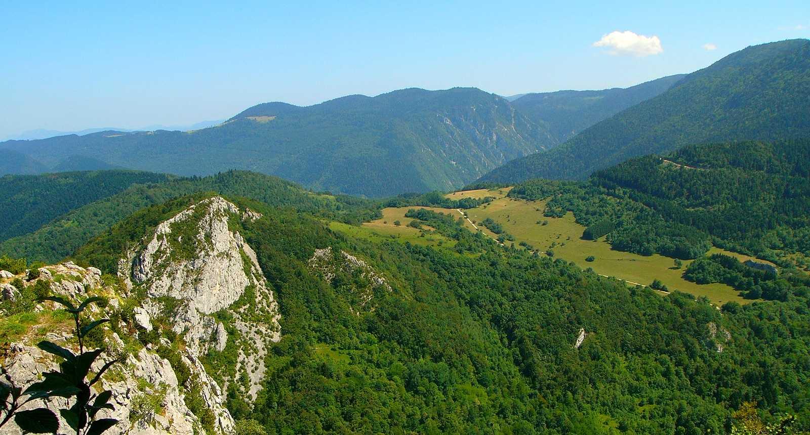 Vue des hauteurs de Montségur