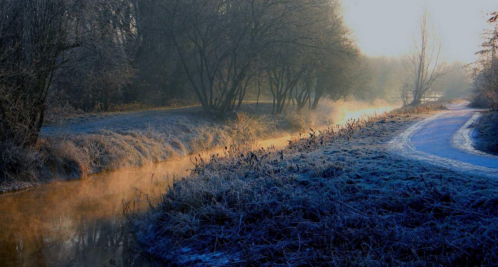 Paysage d'hiver près de Calais