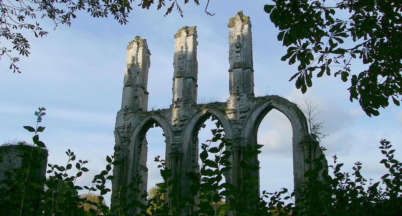 Ruines de l'Abbaye de Saint-Bertin à Saint-Omer