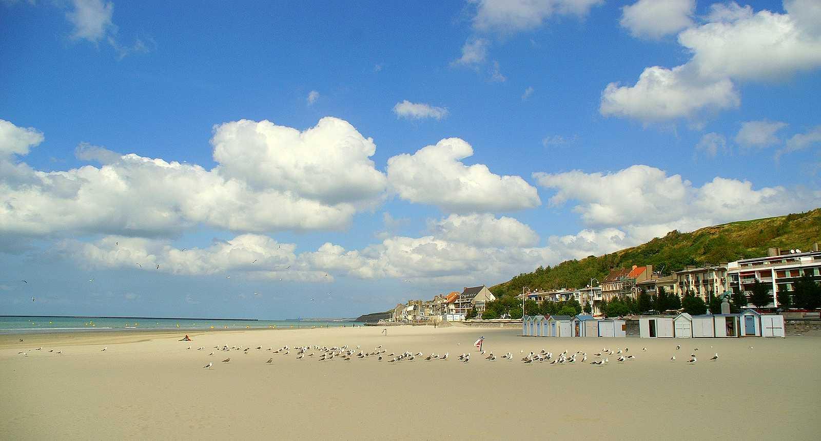 La plage centrale de Boulogne-sur-Mer