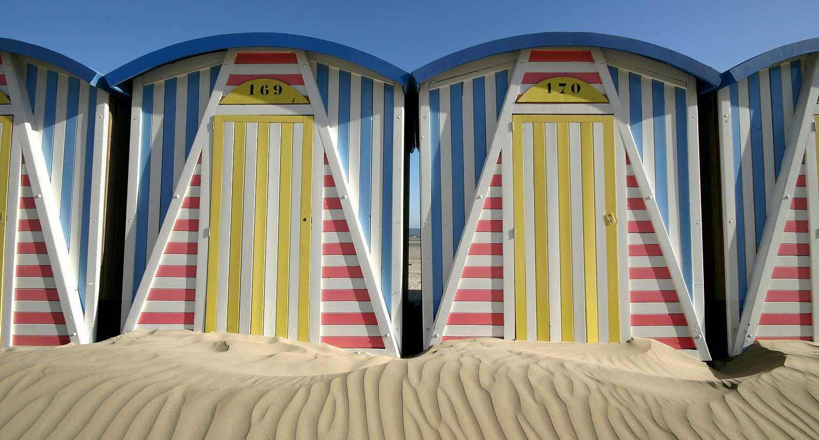 Cabines de plage à Dunkerque