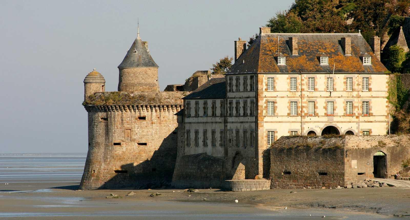 La côté est du Mont-Saint-Michel