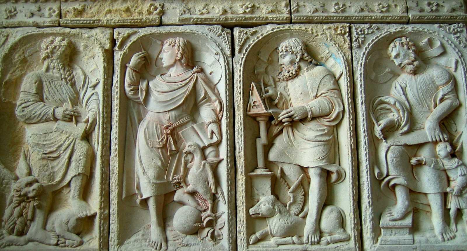 Les 4 évangélistes, au coeur de l'Abbaye du Mont-Saint-Michel