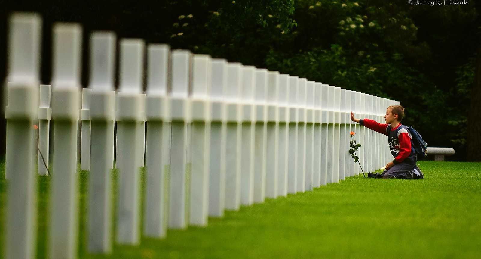 Le cimetière américain d'Omaha Beach
