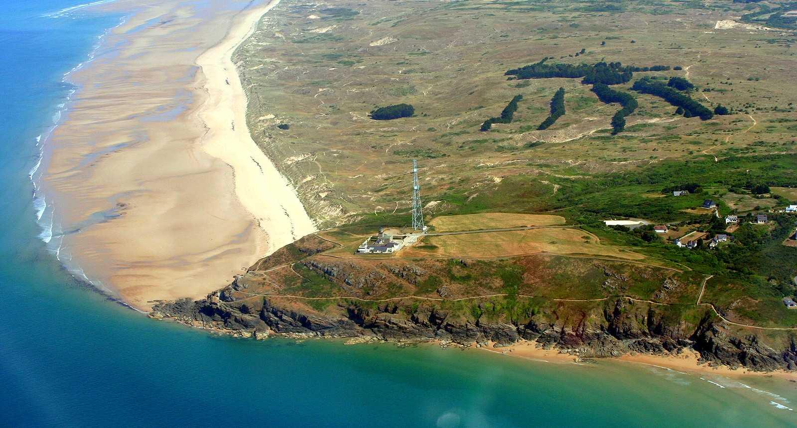Vue aérienne du Cap de Carteret