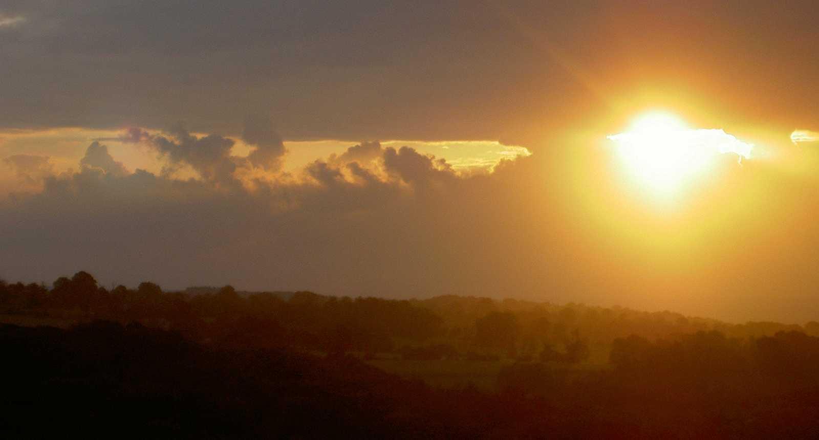 Coucher de soleil à Mortain