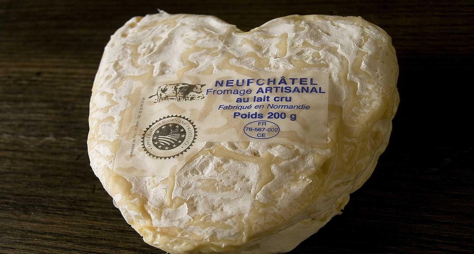 Fromage Neufchâtel AOC, spécialité de Neufchâtel-en-Bray