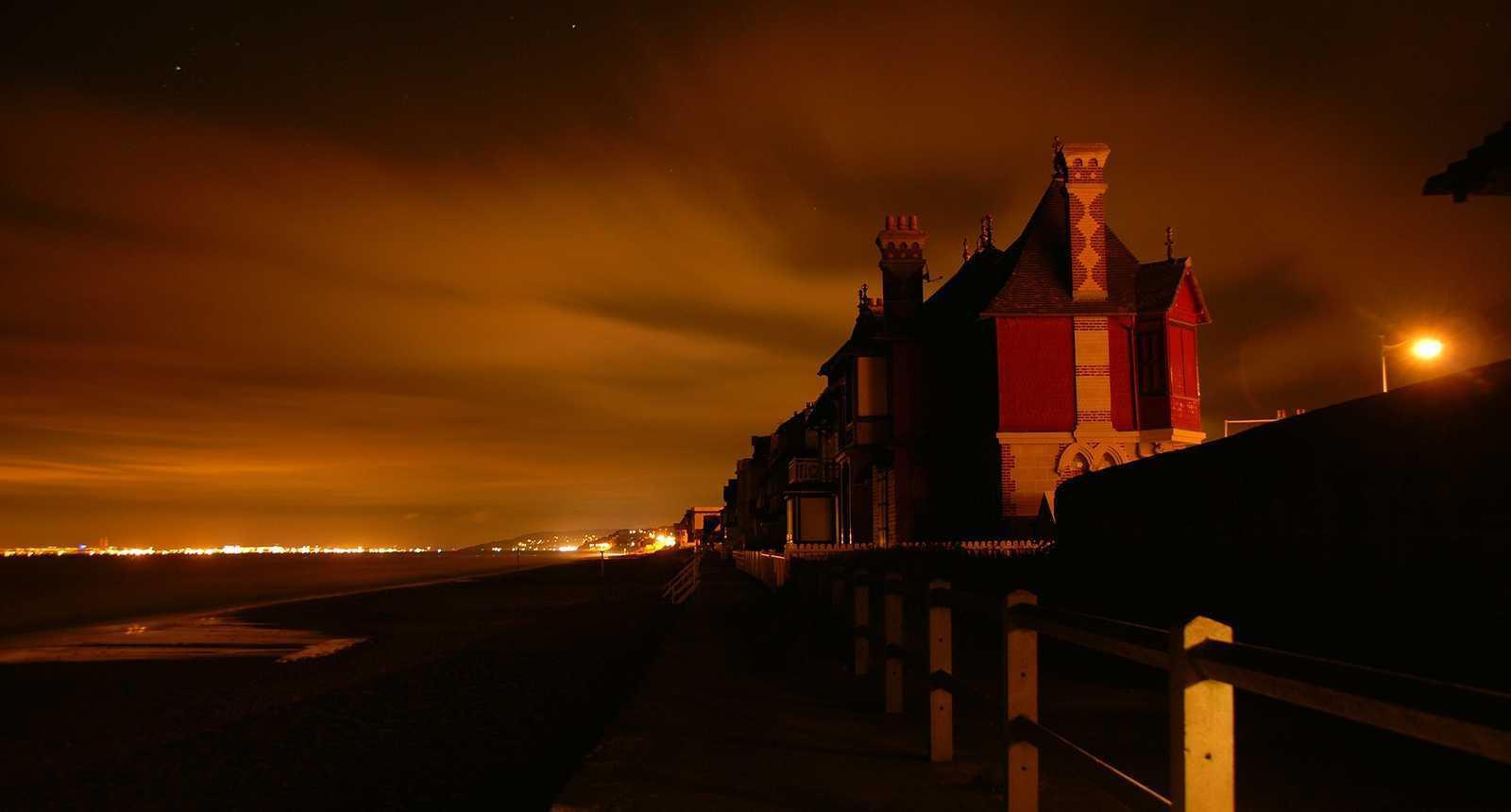 Plage du Havre de nuit