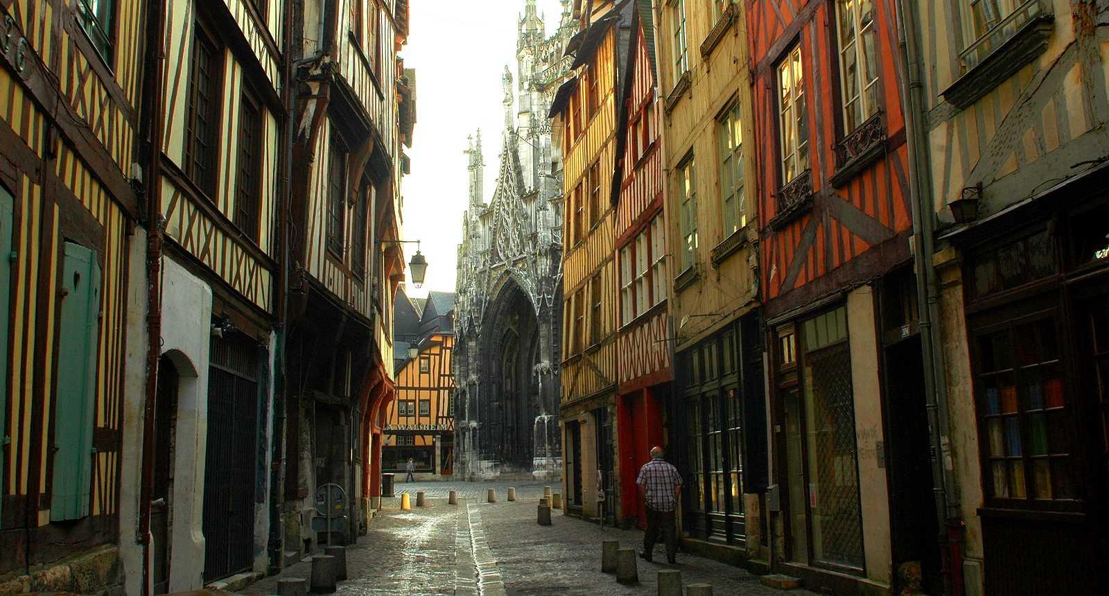 Aperçu de l'Eglise Saint-Maclou, rue Damiette à Rouen