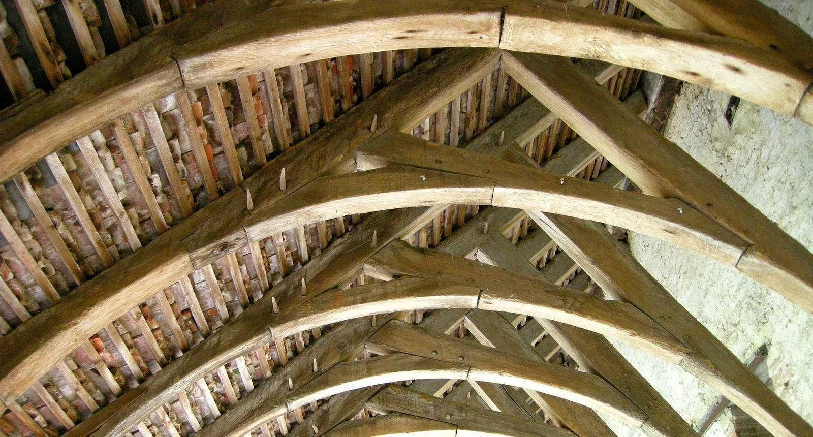 La charpente du cloître de Mortagne-au-Perche