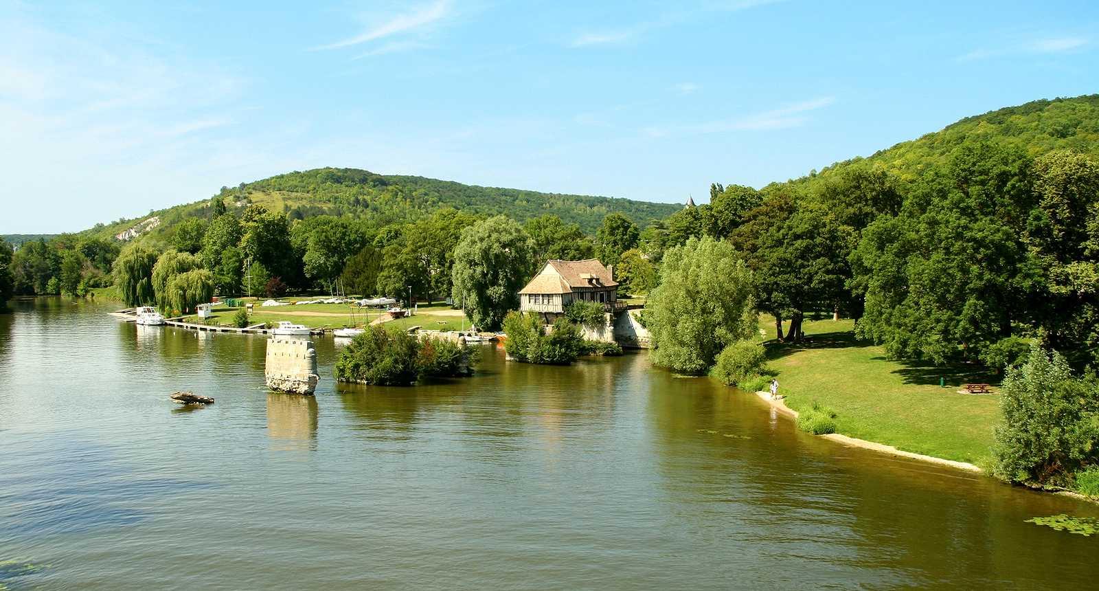 Les berges de la Seine à Vernon