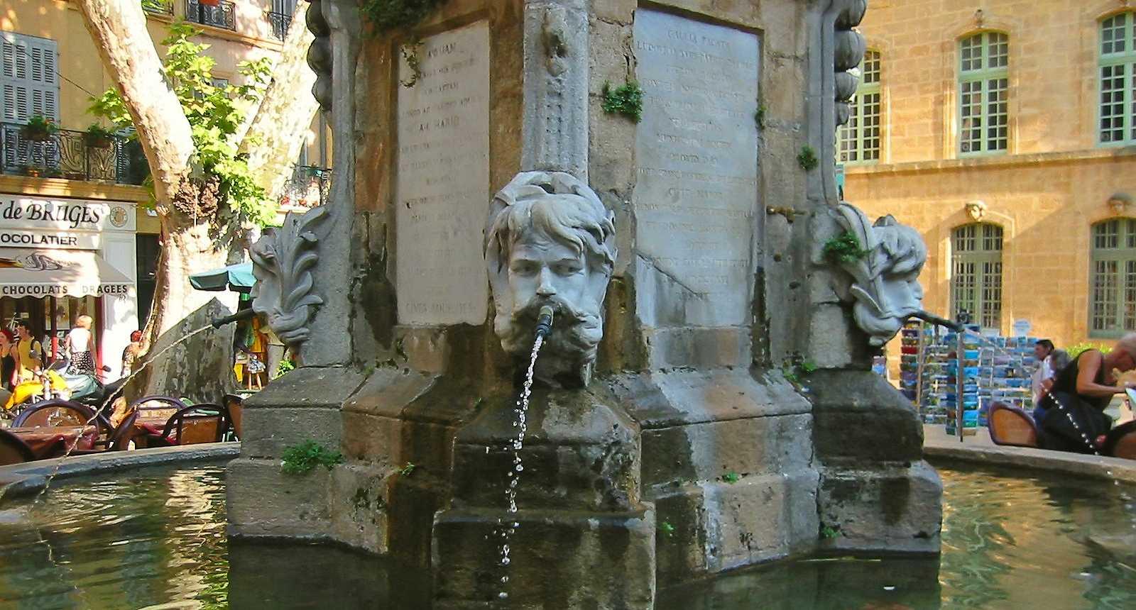 La fontaine de la Place de la Mairie à Aix-en-Provence