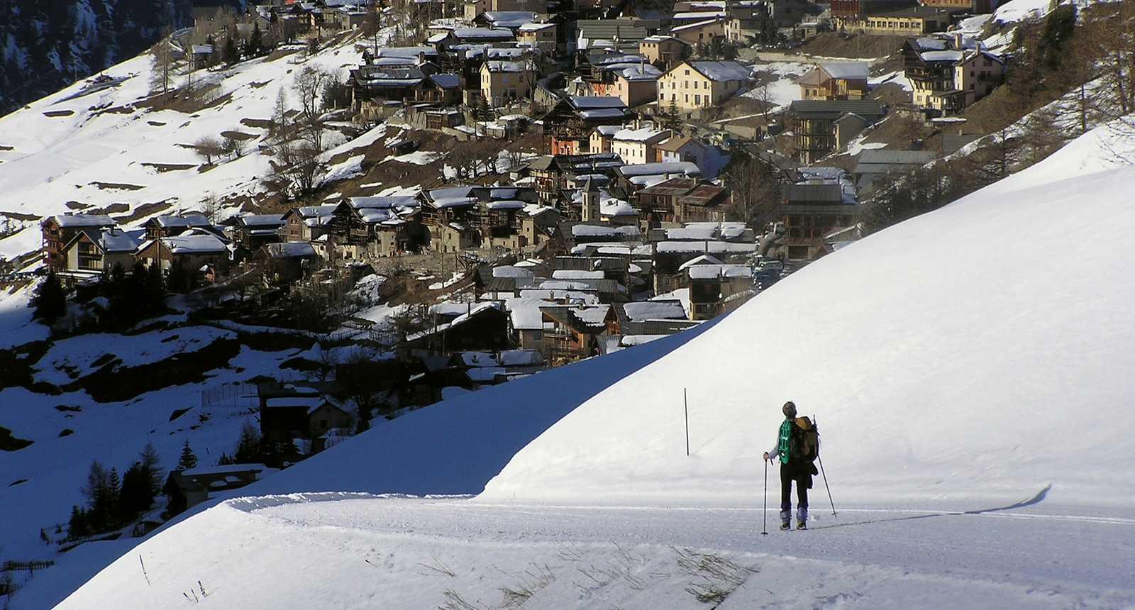 Randonnée hivernale au-dessus de Saint-Véran